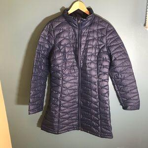 Patagonia winter coat puffer parka navy large